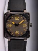 Il la cosa migliore Uomini nuovissimi di lusso del progettista cinturino di orologio meccanico automatico di gomma Swiss Black PVD Quadrati in acciaio inossidabile Moda Mens Orologi da polso sportivi