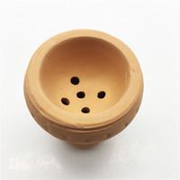 Nuevo producto tradicional china Fabricación de cerámica Hornear bola redonda Cacerola de fumar Estufa Accesorios de carbono de calor Guardián Shisha Tazón