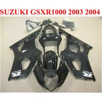 Hot Koop Plastic Fairing Kit voor Suzuki 2003 2004 GSXR1000 Kuipenset K3 K4 GSX-R1000 03 04 Alle glanzende zwarte body kits CQ57