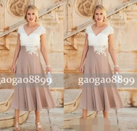 2018 Modern Lace Chiffon Mother of Bride Groom Dresses A Lin...