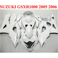 Carene carrozzeria per SUZUKI 2005 2006 GSXR1000 K5 K6 all white 05 06 GSXR 1000 carenatura nuova TF51