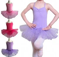 kids ballet dresses pageant tutus Spaghetti Strap girls danc...