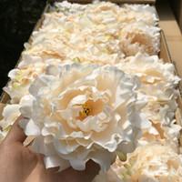 Kunstblumen aus Seide Pfingstrose-Blumen-Köpfe Hochzeit Dekoration liefert Simulation gefälschte Blume Kopf Hauptdekorationen Großhandel 15cm