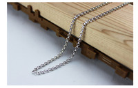 60 سنتيمتر 3 ملليمتر 3.5 ملليمتر الفولاذ المقاوم للصدأ الفضة رولو سلسلة العائمة المنجد سلاسل قلادة سلسلة شحن مجاني
