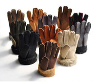 Fashion Men' s and Women' s Man- Made Fur Gloves Mult...