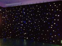 Светодиодные световые эффекты большая звезда занавеса 4м * 6м звезда Colth этап драпировки Сине-белый цвет с подсветкой контроллер LED Vision, занавес