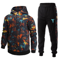 basketball exercise Black Mamba tracksuits for men autumn wi...