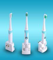 Kemei KM907 Şarjlı Diş Fırçası Ultrasonik Diş Fırçası diş Şarj edilebilir Diş Fırçası ile 3 Yedek Başkanları DHL Ücretsiz Gemi