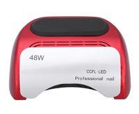 جميل مسمار مصباح الأشعة فوق البنفسجية LEDCCFL 48W مع شاشة LED لأداة طلاء الأظافر مجفف