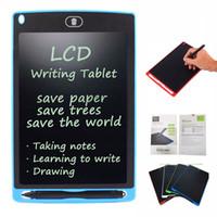 8,5 pulgadas LCD Tabletas de escritura Tableros de dibujo Pizarras Escritura A mano Regalos para niños Bloc de notas Sin papeles Pizarras de notas Memo Con lápiz mejorado