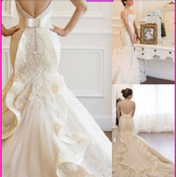 Vestido De Noiva 2015 New Mermaid Wedding Dresses Lace Bride...