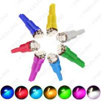 vendita all'ingrosso 50 pz 7 colori T5 1206 3-SMD 0.1W cruscotto auto lato LED lampadine lampadine DC 12V # 1455