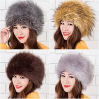 Venta al por mayor-YGS-MZ012 Nuevo sombrero de la manera casquillo caliente de la piel Sombreros de cuero de la hierba Sombrero de la piel de zorro para guardar los casquillos calientes del oído Sombreros del bombardero