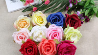 Silk flowers wholesale rose heads artificial flowers 4. 3inch...