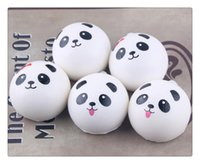 Wholesale cute Panda Squishy Buns Bread Charms, Mini panda e...