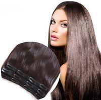 ELIBESS HAIR 120g 9pcs / lot Extensions de cheveux Remy # 1B # 2 4 # 6 # 99J # # 27 60 # # 613 Clip de dentelle respirante blonde en morceaux de cheveux sans dhl