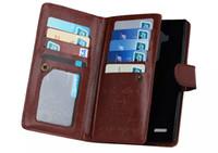المغناطيسي 2 في 1 محفظة جلدية مع 9 حاملي بطاقات + فتحة النقدية + صور إطار حالة الهاتف آيفون 6 7 زائد XR XS