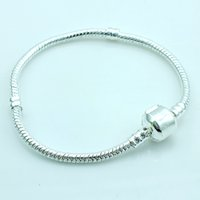Pulseras de eslabones de moda Europa marca plateado plata cadena de la serpiente infinito diy pulseras brazaletes accesorios de la joyería envío gratis
