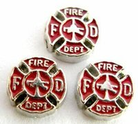 20PCS lot Fire Department Alloy Floating Charms Fit For DIY ...