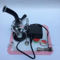 Glas-Bong-Kits Vaporizer WAX Trockenkraut Getrocknetes Kräuterset mit 16-mm-Heizspule 110 V / 220 V EU-US-Ladegerät