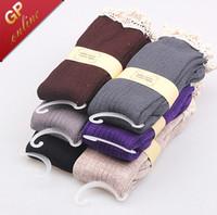Calcetines de encaje con encaje con volantes para mujeres Calcetines de arranque Cilindro doble Algodón lleno