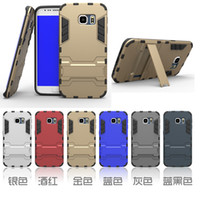1PCS Hybrid Armour Tough Defender a prueba de golpes Kickstand Case para iPhone 5s 6 más Galaxy S5 s6 edge note 4 A7 HTC M9 LG G4