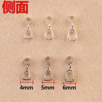 (100 stks / partij) 13 * 4mm / 14 * 5mm / 15 * 6mm zilver / wit k vergulde borgtocht connector baal pinch gesp hanger diy sieraden bevindingen FC064