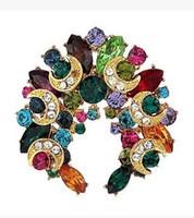 более цвет бриллиант цветок луна женская грудь брошь (35 мм * 35 мм) (xgspc)