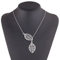 Necklaces Pendants 925 Silver Plated Leaves Pendant Necklace...