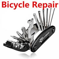 15 في 1 دراجة إصلاح أداة مجموعات moutain الطرق دراجة إصلاح أدوات متعددة الوظائف وجع مفك سلسلة القاطع مجموعات