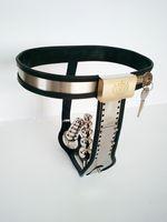 Нержавеющая сталь женский целомудрие устройство регулируемая модель-Т целомудрие пояса сдерживающие устройства см бондаж с анальным влагалищем подключите целомудрие брюки