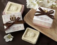 creative handmade owl soap 5pcs lot box wedding gifts birthday gifts body wash soap free shipping