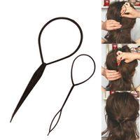 All'ingrosso-2 pz / lotto strumenti per lo styling dei capelli styling topsy coda dei capelli macchina intrecciatura clip per bigodino di capelli per capelli acessorios para cabelo