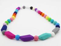 NEW ARRIVAL 수제 실리콘 아기 젖니 목걸이 MIX 색상
