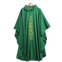 Heilige Religie Clergy Green Catholic Church Cobe Priest Chasuble Celebrant Roll Collar Nevingen Cosplay Kostuums 3 stijlen