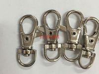 Free shipping 5000pcs/lot 3.8cm Key Rings Lobster Clasps Swivel Trigger Clips Snap Hooks Keychain Key Ring
