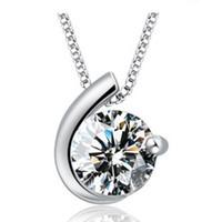 Donna argento collane gioielli in cristallo cerchio diamante dichiarazione ciondolo collane matrimonio vintage fascini collane spedizione gratuita