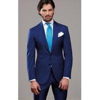 새로운 웨딩 최고의 남자 신랑 들러리 양복 공식적인 맞춤식 신랑 턱시도 파티 댄스 파티 정장 중국 칼라 정장 2 피스 (재킷 + 바지)