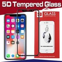 Protecteur d'écran en verre trempé courbé 5D pour iPhone 11 Pro Max XS Plus XR X 8 Plus 7 6 Samsung Galaxy J2 J3 J5 J6