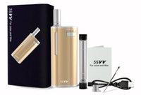 Mais novo Original Mjtech 5 V V Kit 650 mAh Caixa De Bateria Mod Wax Oil 2 em 1 Vaporizador Atomizador E Cigarro Vape Kit por DHL livre