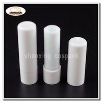 videz baume pour les lèvres conteneurs blancs gros, acheter des tubes de baume pour les lèvres vides ronds blancs LB02-4.8g, tubes de baume à lèvres écologique