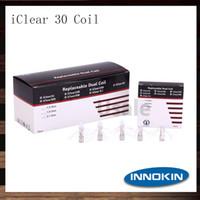 Oryginalny Innokin ICLEAR 30 Clearomizer Rebuildable Dual Coil Head 1.5OHM 1.8HM 2.1OHM ICLEAR 30 Podwójne cewki 100% oryginalne