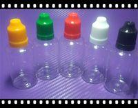 Пустой ясно ПЭТ e cig 5 мл 10 мл 15 мл 20 мл 30 мл 50 мл пустой E жидкий пластик капельницы бутылки с ребенком доказательство бутылки крышки bestvaporseller