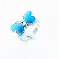 Mood Rings Gratis Frakt Partihandel 100st Mood Färg Madame Butterfly Ringar Charmiga Mode Smycken Ringar Kreativ Ring Lovers Love Gift