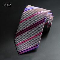 Mais novo Luxo Male Marca Formal Negócios Casamento Clássico Homens Paisley Ties 8cm Silk Gravata Gravata Acessórios Homens Novidade Roxo Gravata Quente