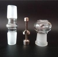 18.8MM verre dôme en verre adaptateur GR2 titane ongles un ensemble complet pour la vapeur