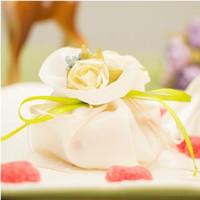 Romantic Rose Flower Silk Sacchetti di zucchero di seta Scatole di caramelle di nozze Borse regalo Borse di favore Borse Bambini Baby Shower Boxs per la tavola del partito Decorazione Forniture