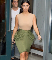 Sexy Women Bodycon skirt Kim Kardashian Casual Dresses Ladie...