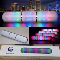 JHW-V318 Long Pill XL Haut-parleur Bluetooth Haut-parleur de pilule Pulse LED Flash Lighting Portable Wireless Bluetooth Speaker Bulit-in Mic Handsfree