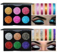Pennello per trucco Diamond Glitter Color Powder Palette per ombretto Bright Glitter 6 colori Platte Highlight Ombretto per colori